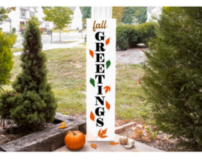 Fall Porch signs. Halloween porch signs. Autumn double sided porch signs. Two sided porch sign. Fall welcome porch sign.