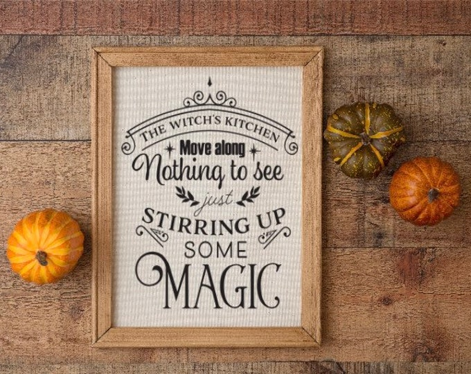 Halloween kitchen sign The witch's kitchen stirring up some magic fall decor Halloween signs fall sign. Fall signs. Halloween decor