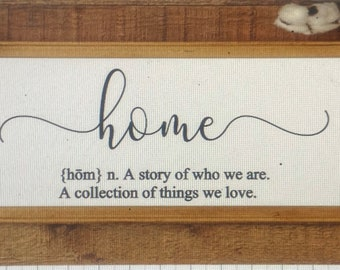 Home definition sign. Home signs. Definition of home sign. Wood framed home sign. Definition signs. Custom home sign