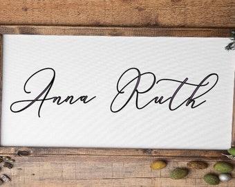 Custom framed baby name sign. Nursery decor wood framed baby boy baby girl signs kids room sign