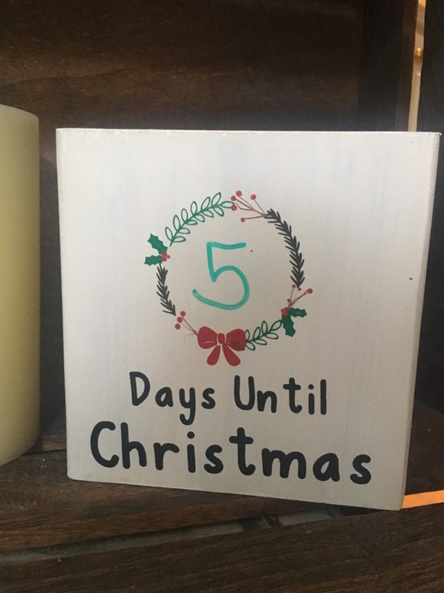 Countdown To Christmas Sign.Days Until Christmas Sign Christmas Countdown Christmas