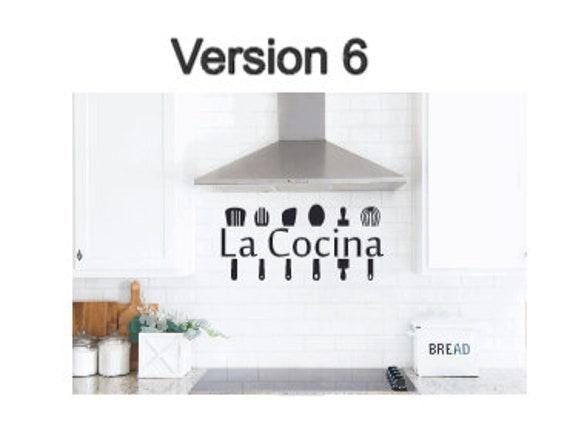 La Cocina decal. La Cocina wall sticker. Spanish kitchen sticker. Spanish kitchen decals. La Cocina decals. Kitchen wall stickers. La Cocina
