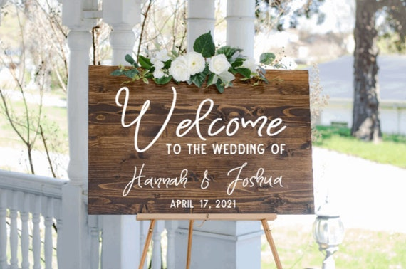 Welcome sign decals. DIY Wedding sign stickers. Welcome sign stickers. Wedding sign decals.  custom wedding stickers.  Wedding sign decal