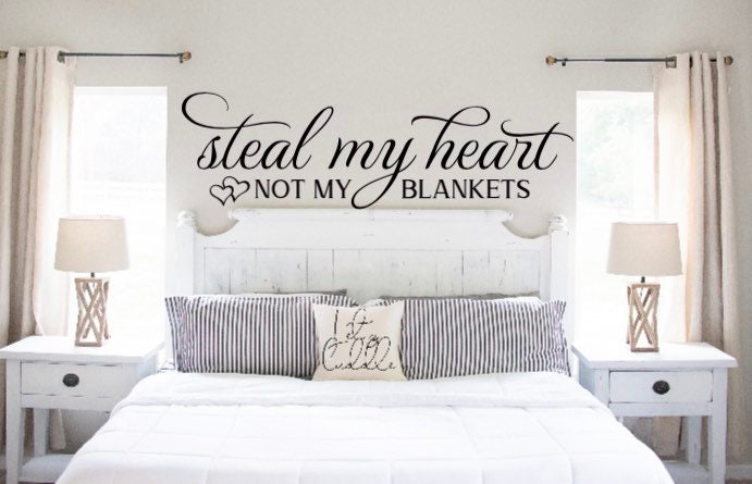 master bedroom sign over the bed sign wedding gift master bedroom decor Steal my heart not my blankets bedroom sign farmhouse