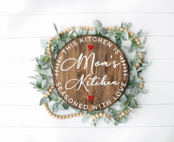 Custom Kitchen sign. Personalized kitchen sign. Mother's day gift. Mimi. Gigi. Grandma's kitchen. Present. Mom's kitchen. Mother's Day