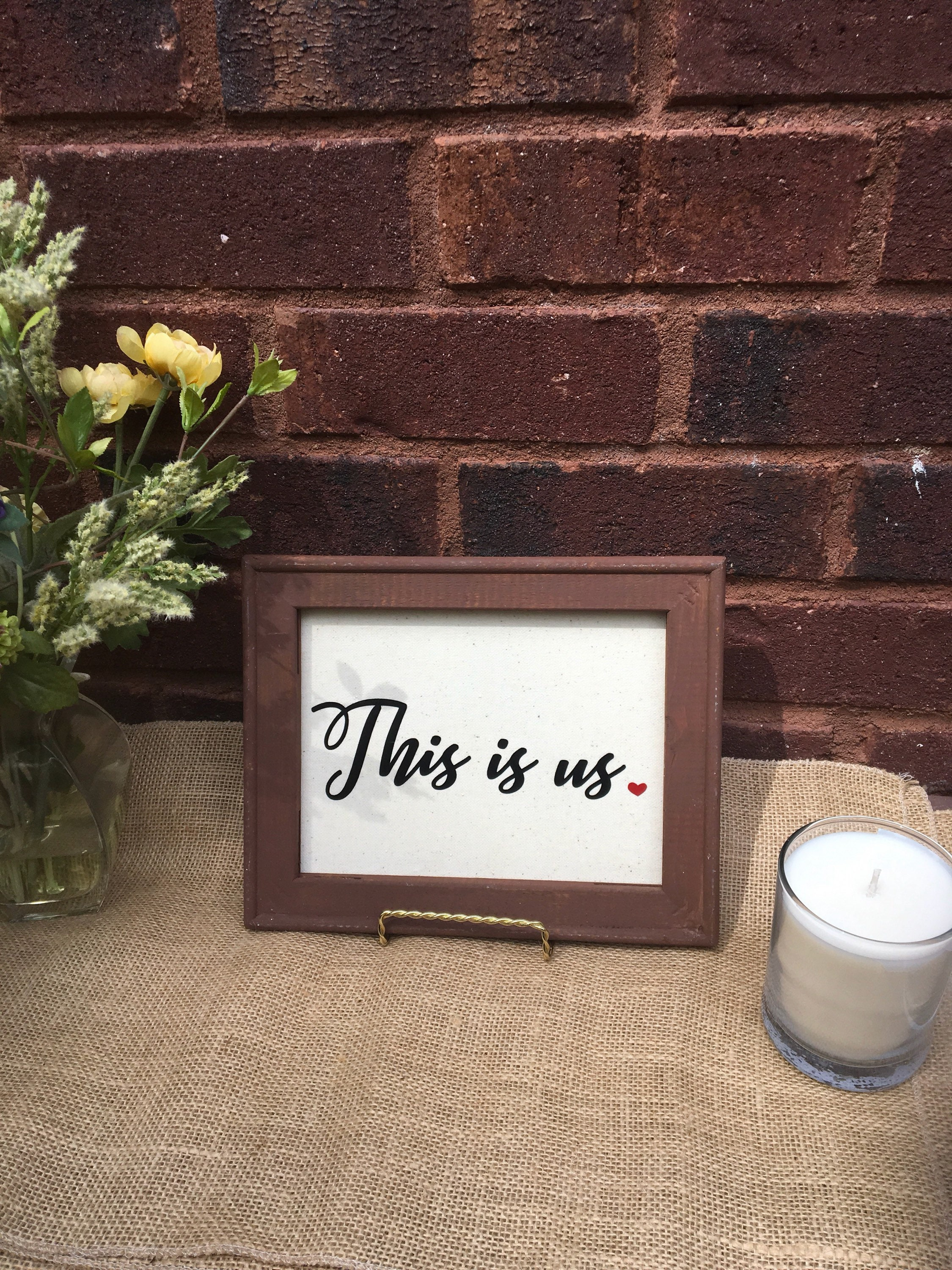 This Is Us Tv Show Canvas Sign Wood Framed Home Decor Painted Or