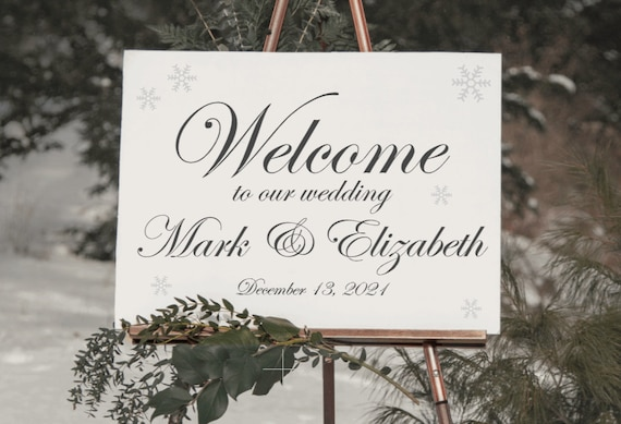 Winter Wedding signs. Welcome wedding signs. Personalized wedding signs. Wood wedding sign.  Christmas wedding signs. Winter wedding welcome