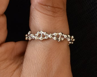 DNA Destiny - 3D DNA Double Helix ring, Unique thumb ring, Science jewelry, Science Gift, Doctor Gift, Medical gifts, DNA jewelry by Aliame