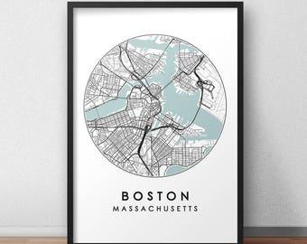 Boston Art Print Etsy