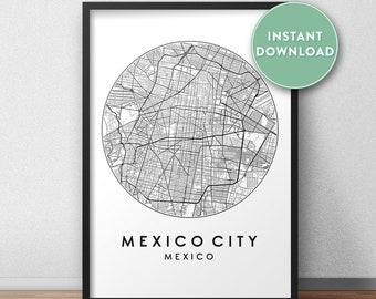 on city prints map art
