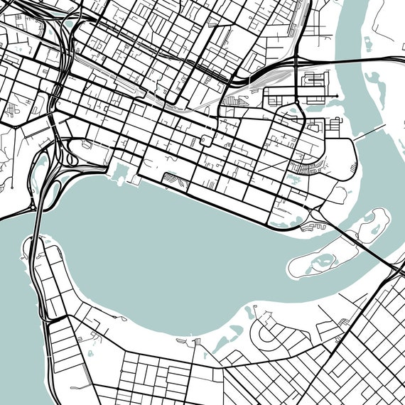 Great Home Decor Perth City Lines Map Wall Art Poster Print