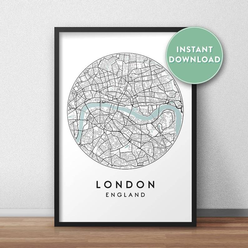 London City Map Printable.London City Map Printable Street Map Art London Map Print City Map Wall Art London Map Travel Poster England Uk Map Print