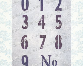 Number Stencils Etsy