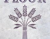 STENCIL 39 Grain Sack Flour 39 Vintage Script, Furniture, Home Decor, Fabric, Crafts, Reusable THICKER 250 10mil MYLAR, by Stencil Stash