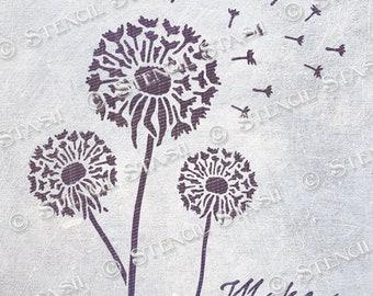 Dandelion stencil   Etsy