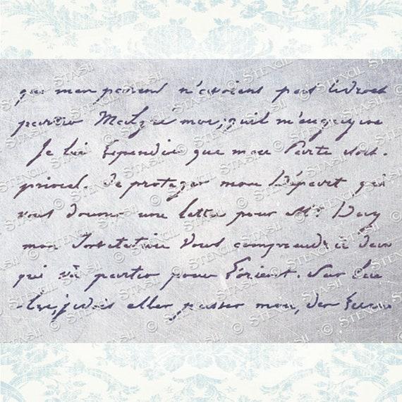 vintage style script stencil
