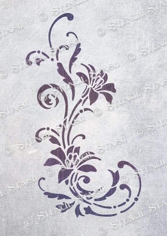A3 A4 tea pot,flowers Shabby Chic  stencil 190 micron mylar Tea time