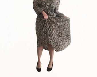 Retro 70s Dress size 14/ Vintage Dress/ Floral Print Dress/ Retro Dress/ Floral Dress/ 1970s Dress/ Stitches Dress