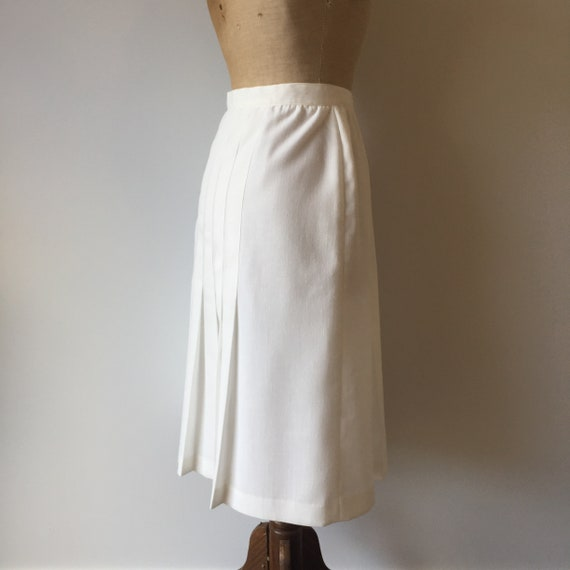 Vintage White Button Up Skirt - image 7