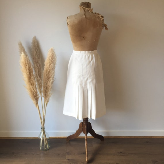 Vintage White Button Up Skirt - image 5