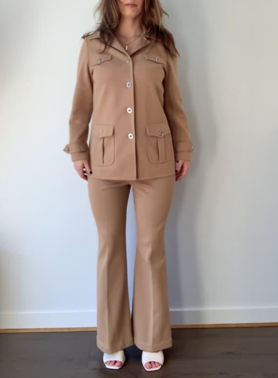 1970s Brown Safari Suit