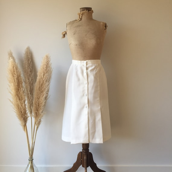 Vintage White Button Up Skirt