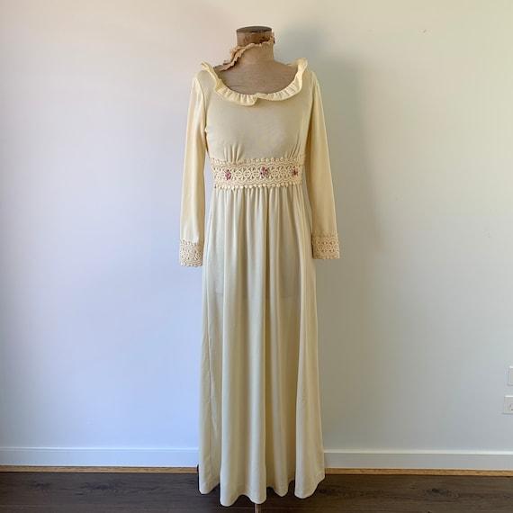 1970s Boho Goddess Dress