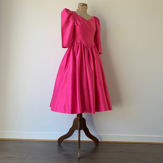 1980s Pink Prom Dress / 1980s Bridesmaids Dress
