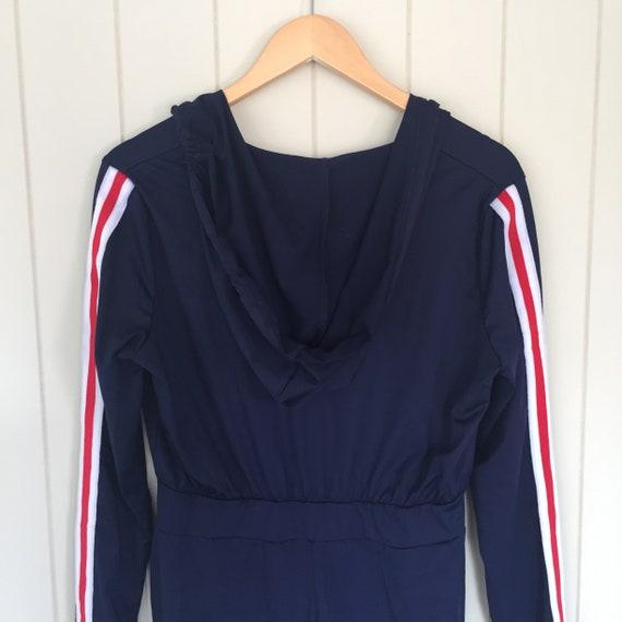American Stripe Jumpsuit/ 1970s Jumpsuit/ Retro J… - image 5