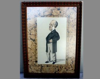 Vintage Man Picture, Banker, Butler, 1900s