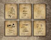 Vintage Hunting House Decor, Kitchen Wall Decor, Hunter Gift, Hunter Poster, Hunting Set of 6 Designs - INSTANT DOWNLOAD -