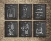 Blacksmith Tongs, Blacksmith Forge, Blacksmith Vise, Blacksmith Wall Decor, Metallurgy Art, Metal Working Set of 6 Prints, INSTANT DOWNLOAD