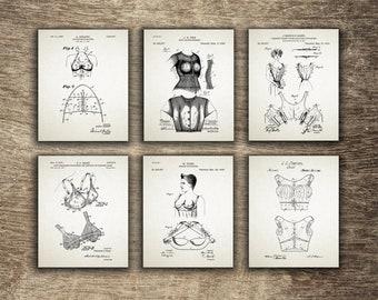 Corset Poster, Brassier Patent, Brassier Decor, Bust Supporter, Knit Undergarment, Women Gift Idea - INSTANT DOWNLOAD -