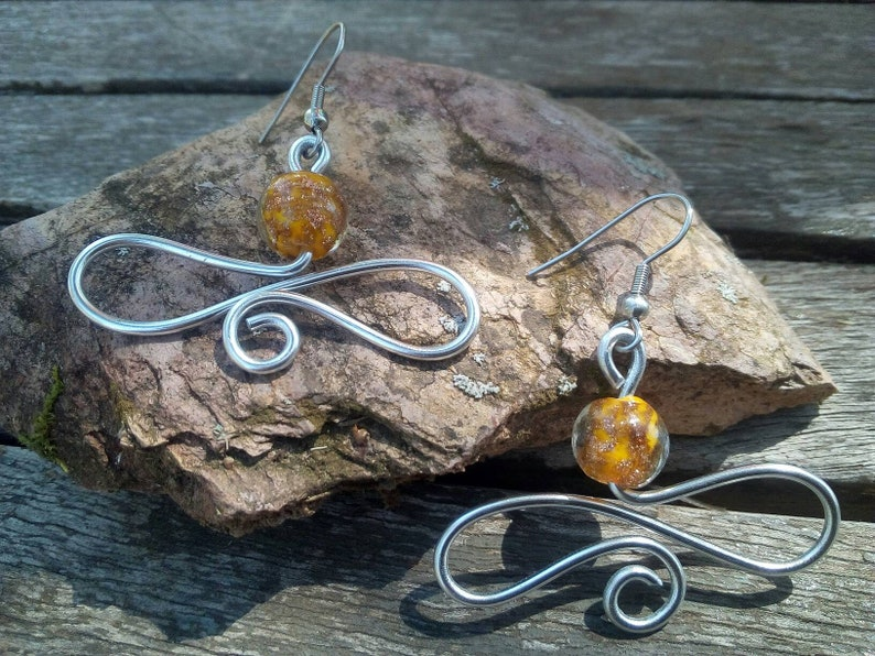 cc7b936cf Spiral earrings silver spiral halloween jewelry wire   Etsy