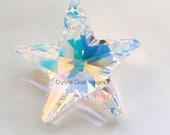 Swarovski Elements 28mm Aurora Borealis Crystal Star Prism Sun Catcher