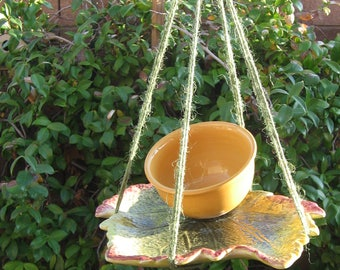 Bird Feeder,ceramic, hanging feeder