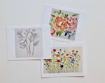 Postcard pack, assorted, art prints (pack of 3)