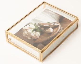"4x6"" Brass & Glass Photo Print Box"