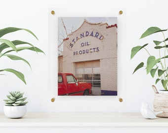 "Gold 8x10"" Acrylic Float Frame"