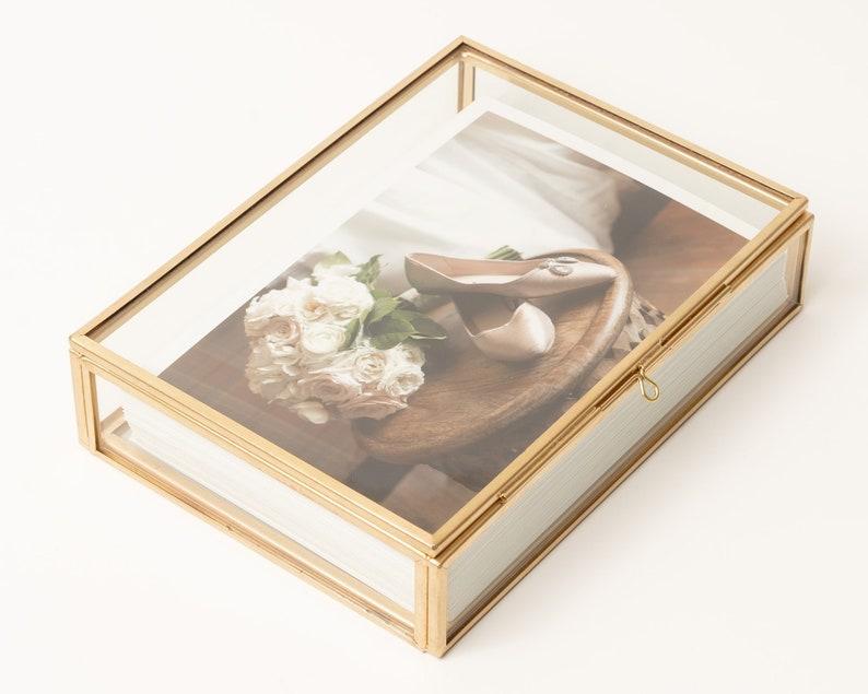 4x6 Brass & Glass Photo Print Box image 0