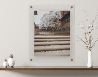 "Gold 9x12"" Acrylic Float Frame"