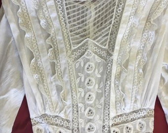 Vintage Victorian White Day Dress