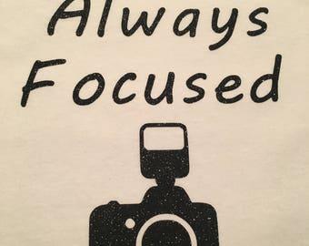 Photographer Camera Tshirt (Gift)