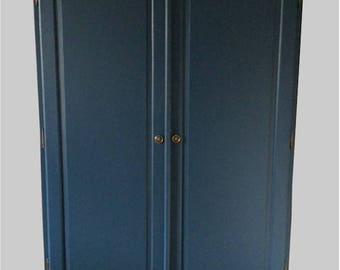Large Double French Style Wardrobe, Hand Made. Knock Down Format for ease of access. Hand Painted