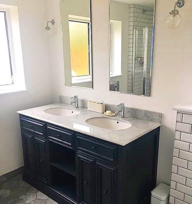 Double Sink Vanity Unit, Country Style Bathroom Vanity