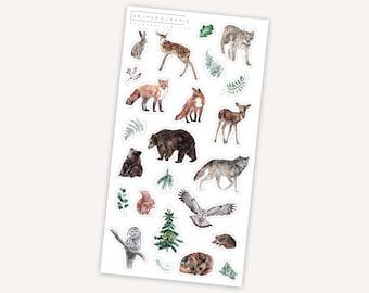 Wildlife    13 stickers   Plant   Animals   Summer   Camping   Bear   Leaf   Wolf   Owl   Tree   Dear