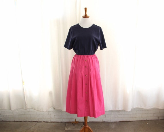 90s does 50s Vtg Shirtdress Pink Casual Large