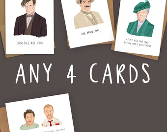 Mix and Match Any 4 Characterful Cards | Funny Birthday Cards | Funny cards