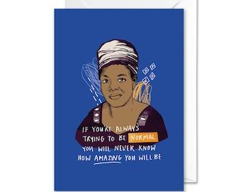 Maya Angelou Inspiring A6 Greetings Card | Book Lover Card