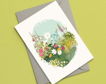 Cottage Garden greetings card | Floral card | Birthday card | Mothers day card | Wedding card | Sympathy card